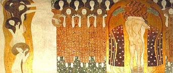 """Klimt, La frise Beethoven, """"L'hymne à la joie"""", 1902."""