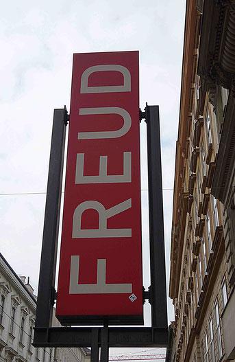 Photographie, Vienne, Autriche, musée Freud, rouge, panneau, psychanalyse, visite, Isabelle Guyot