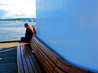 Meditation am Hafen