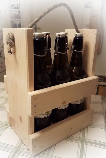 Bierkiste selbstgemacht stapelbar und handlich