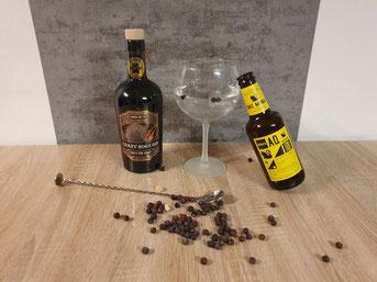 Crazy Horn Gin mit Aqua Monaco Tonic Water