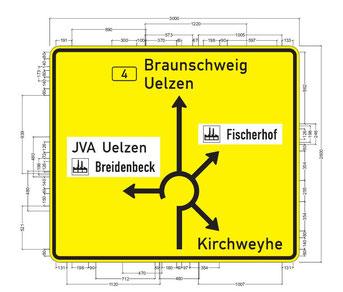 Grafik: Ausstattungspläne für Schutzeinrichtungen & Beschilderungen