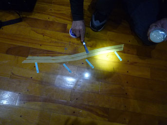 パテ塗布後にLED照射一分以内で硬化します