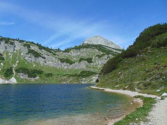 Wildensee, dahinter Rinnerkogel, Rinnerhütte