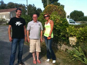 Réunion de travail à Trizay avec Olivier Masurel et Melanie Astles.