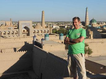 desde las Terrazas de Khiva -Uzbekistán