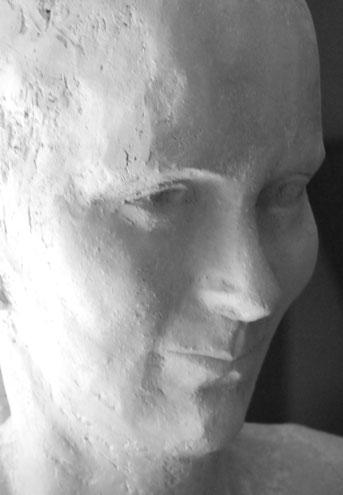 portret van een bruid, klei