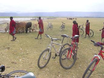 Fahrradtour zum Lake Manyara