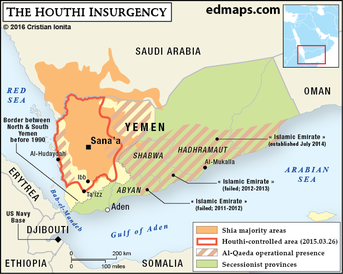 The Houthi Insurgency Map