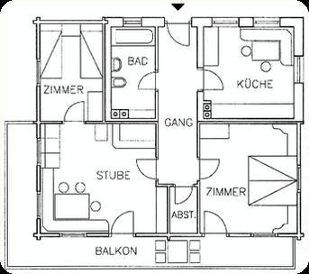 """proiezione pian terreno ©agriturismo, appartamenti """"Rauchegg"""", Val d'Ultimo, Alto Adige, Sudtirolo"""