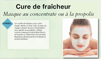 Utilisez comme masque la crème Aloe Vera à la Propolis ou l'Aloe Vera Concentrate