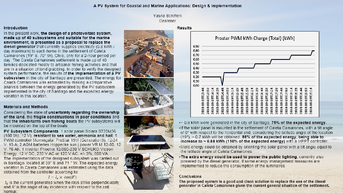 Yasna Schifferli presented the Solara system in the Fifth International Fossil and Renewable Energy Conference (F&R Energy 2021).     A PV System for Coastal and Marine Appilcations: Design & Implementation