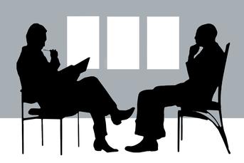 Silhouette eines Gesprächs