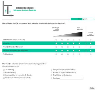 Beispiel Online-Umfrage erstellen