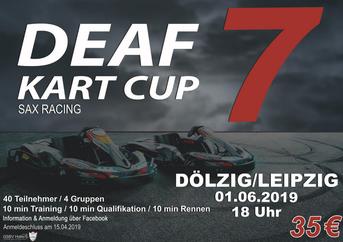 Plakat - 7. DEAF KART CUP SAX RACING