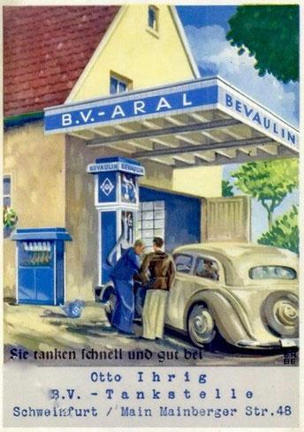 Reklamekarte aus den 1930ern