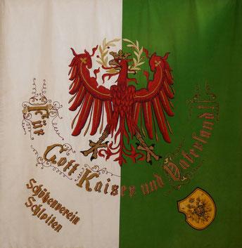 Fahne der Schützenkompanie Schlaiten