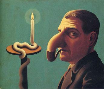 ルネ・マグリット《哲学者のランプ》