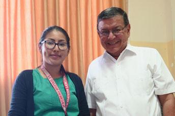 Alberto Solórzano verantwortet mit zwei Kolleginnen das Patenschaftsprogramm in Guayaquil.