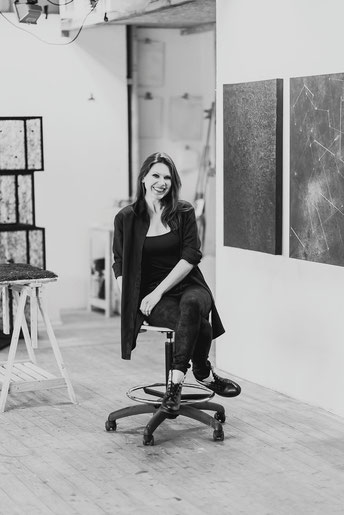 Katharina Lehmann @ studio in Munich. Photo © Julia Milberger, 2017