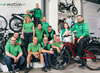e-Bike Auswahl in der e-motion e-Bike Welt Düsseldorf