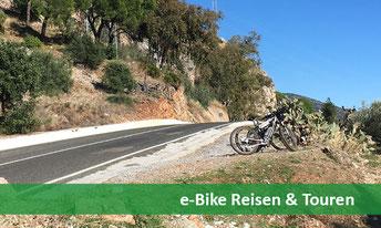 e-Bike Reise und Touren im Ausland oder bei Ihnen um die Ecke
