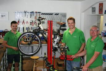 Das e-motion e-Bike Expertenteam im e-motion e-Bike Premium Shop in Bonn