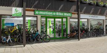 Die e-motion e-Bike Welt in München Süd