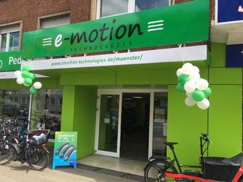 Die e-motion e-Bike Welt in Münster