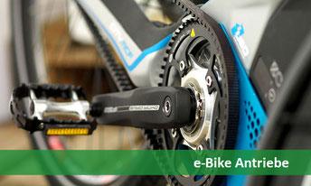 e-Bike, Pedelec und S-Pedelec Motoren und Antriebe
