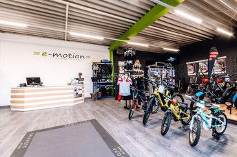 e-Bike Auswahl in der e-motion e-Bike Welt Harz