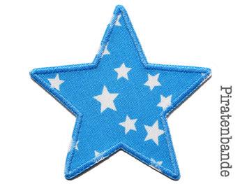 Bild: Hosenflicken Flicken Sternchen hellblau