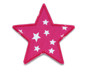Bild: Hosenflicken Flicken für Kinder Sternchen pink