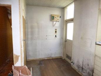 施工前キッチン横スペース