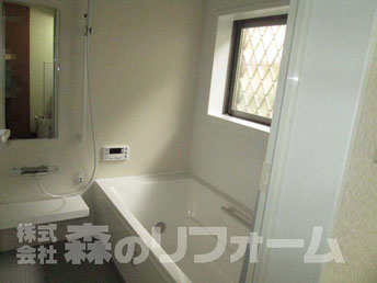 流山市まるごとリフォーム 浴室リフォーム UBへ施工後 サーモバスを採用し冷めにくい浴槽に
