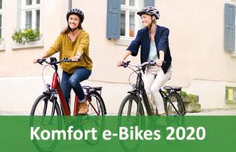 City/Komfort e-Bikes, Pedelecs und 45km/h S-Pedelecs 2020