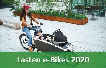 Lasten e-Bikes und e-Cargobikes 2020