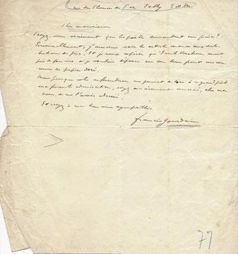 Francis Jourdain lettre autographe signée