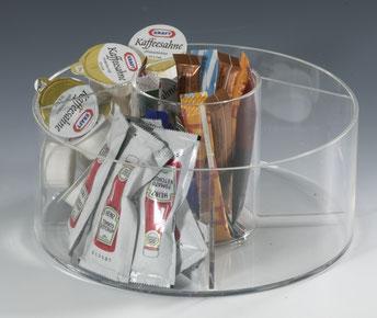 Distributeur pour ingrédients, rond, 9402517, 2 compartiments 9402513, FMU GmbH, Accessoires pour le snacking