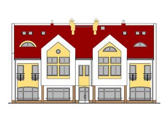 Budynek handlowo-usługowy z częścią mieszkalną przy ul. Krętej w Chojnicach  (opracowano dla Pracowni Projektowej inż. Jana Belzerowskiego)