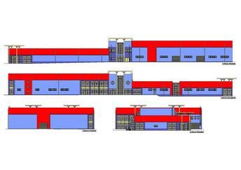 Hurtownia materiałów budowanych HETMAN w Chojnicach, ul. Strzelecka  (opracowano dla Pracowni Projektowej inż. Jana Belzerowskiego)