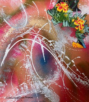 「花の魂」色紙