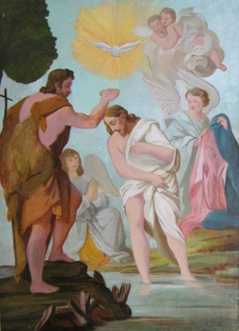 Coti-Chiavari - Le baptême du Christ d'après Carlo Maratta via B. Farjat