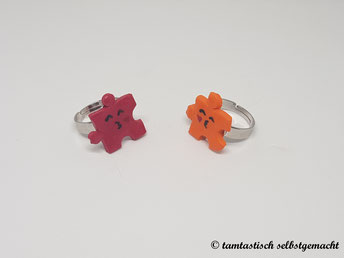 Ringe-Puzzleteile-rot-orange