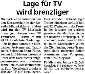 Bericht im Miesbacher Merkur am 5.2.2019 - Zum Vergrößern klicken
