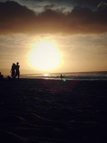 Sonnenuntergang mit dem Smartphone aufgenommen