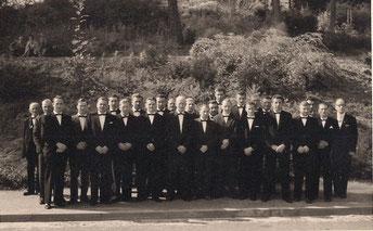 Der Männerchor in den 50er Jahren