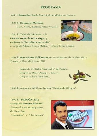 Programa del Día del Aceite Verdial en Periana