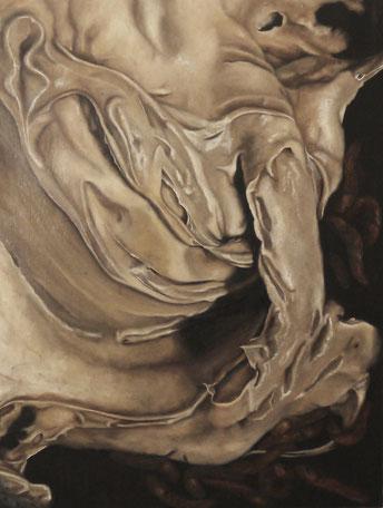 Ab- und Anscheißen (Painters Beauty No. III) . 2015 . 80x60 . oil on canvas