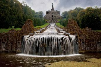 Symmetrische Aufnahme vom Bergpark in Kassel
